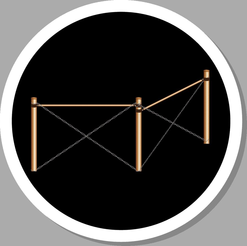 Icon แผงรับแรงเข้ามุม รั้วตาข่าย